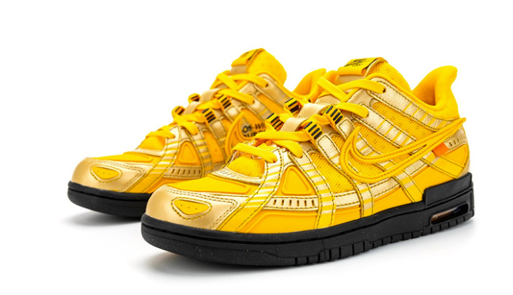 Off-White x Nike Rubber Dunk University Gold CU6015-700