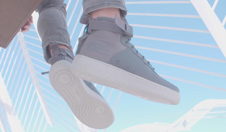 "Nike Air Force SF Mid ""Light Grey"""