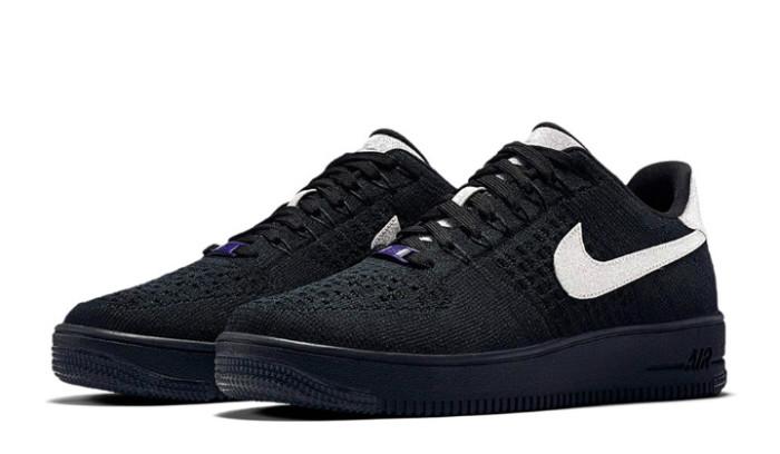 Nike Air Force 1 Ultra Flyknit Black Metallic