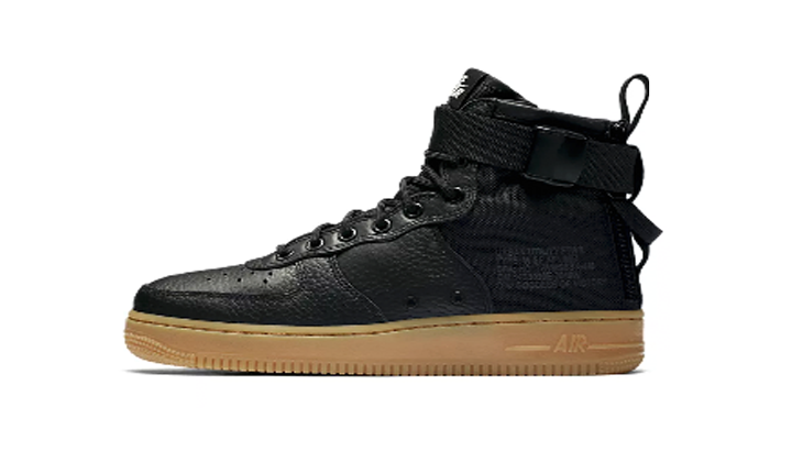 nike air force one mid zapatillas negras