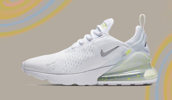 El blanco y el Volt visten a las nuevas Nike Air Max 270