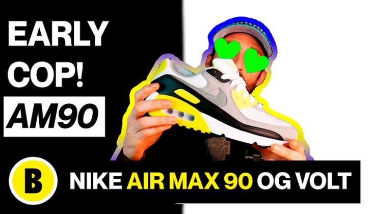 BackseriesTv : Nike Air Max 90 OG Volt 2020 Review