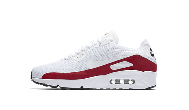 Nike Air Max 90 Ultra 2.0 Flyknit «White/Red»
