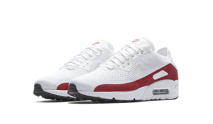 "Nike Air Max 90 Ultra 2.0 Flyknit ""White/Red"""
