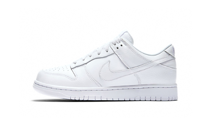 nike dunk low all white 1