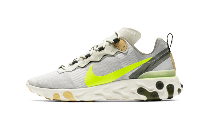 Nike React Element 55 Gris Volt