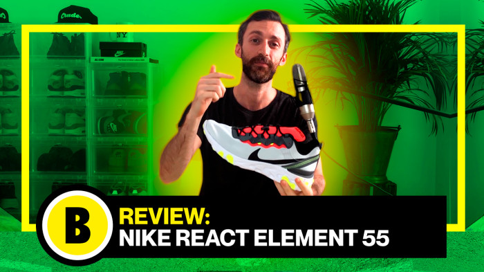 Backseries Youtube: Review Nike React Element 55