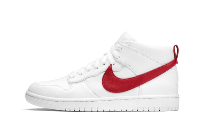 NikeLab Dunk Lux Chukka x Riccardo Tisci white-red