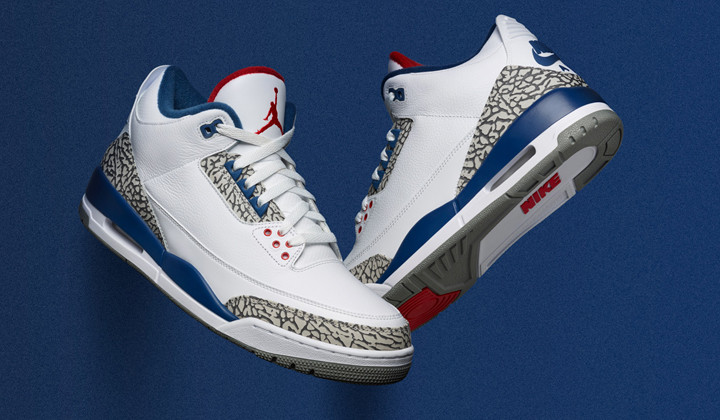 "Nike Air Jordan III OG ""True Blue"" 2016"