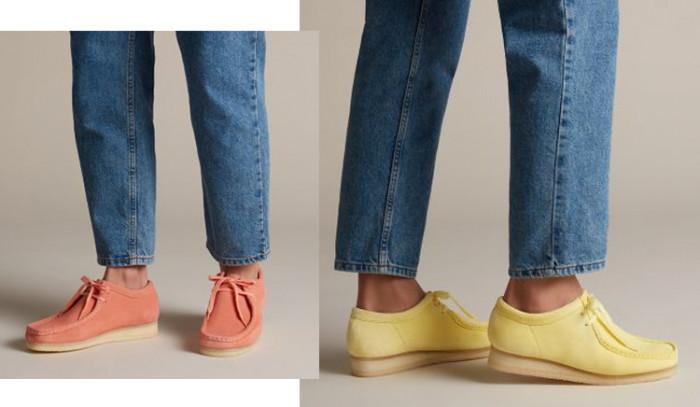 Nuevos colores de las Clarks Wallabee, el clásico se tiñe de tendencia.