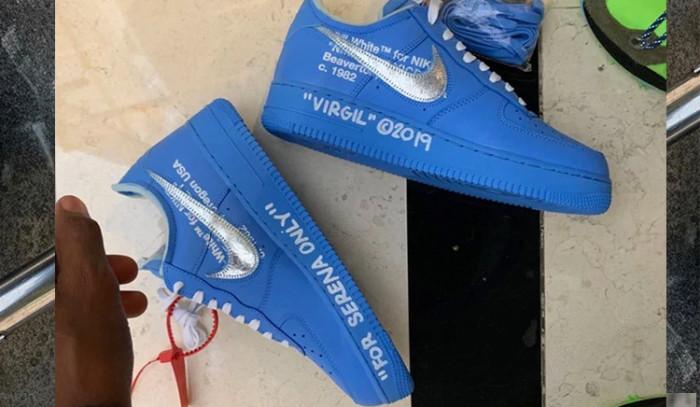 Virgil Abloh regala las Off-White x Nike Air Force 1 MCA Blue a Serena Williams!