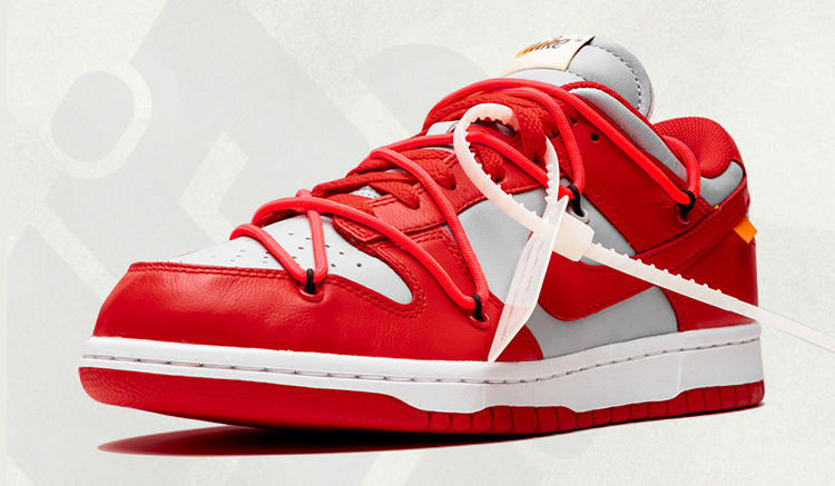 off-white nike dunk low university red ct0856-600