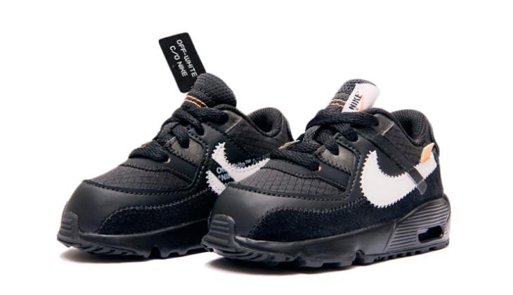 Las Off-White x Nike Air Max 90 para niños son todo lo que necesitan los más pequeños…