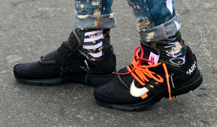 Así quedan las Off White x Nike Air Presto Black