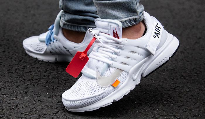 Así quedan las Off White x Nike Air Presto White