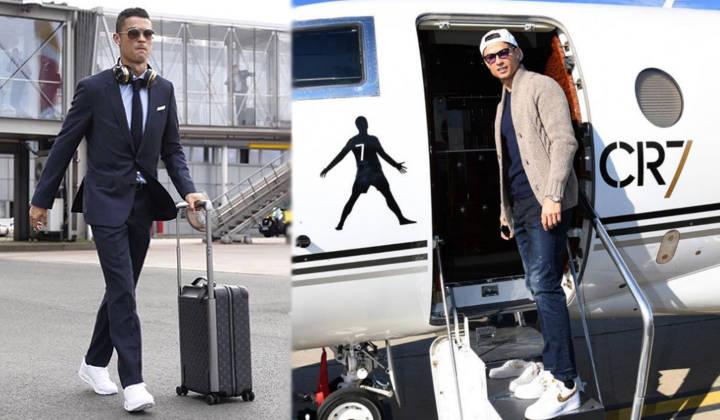 que sneakers lleva cristiano ronaldo aviones