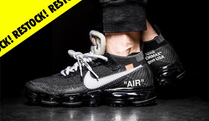 Habrá restock de las Off-White x Nike Air Vapormax en Slam Jam!