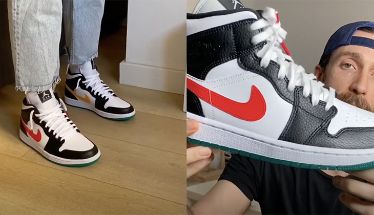 BackseriesTv: Review Air Jordan 1 Mid Alternate Swooshes