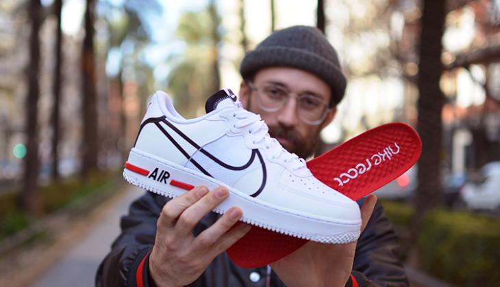 Imágenes de las nuevas Nike Air Force 1 React Blancas!