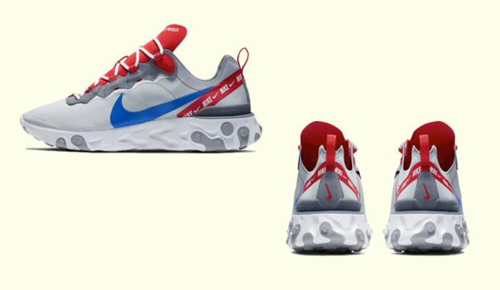 Nueva actualización para las Nike React Element 55 Overbranded